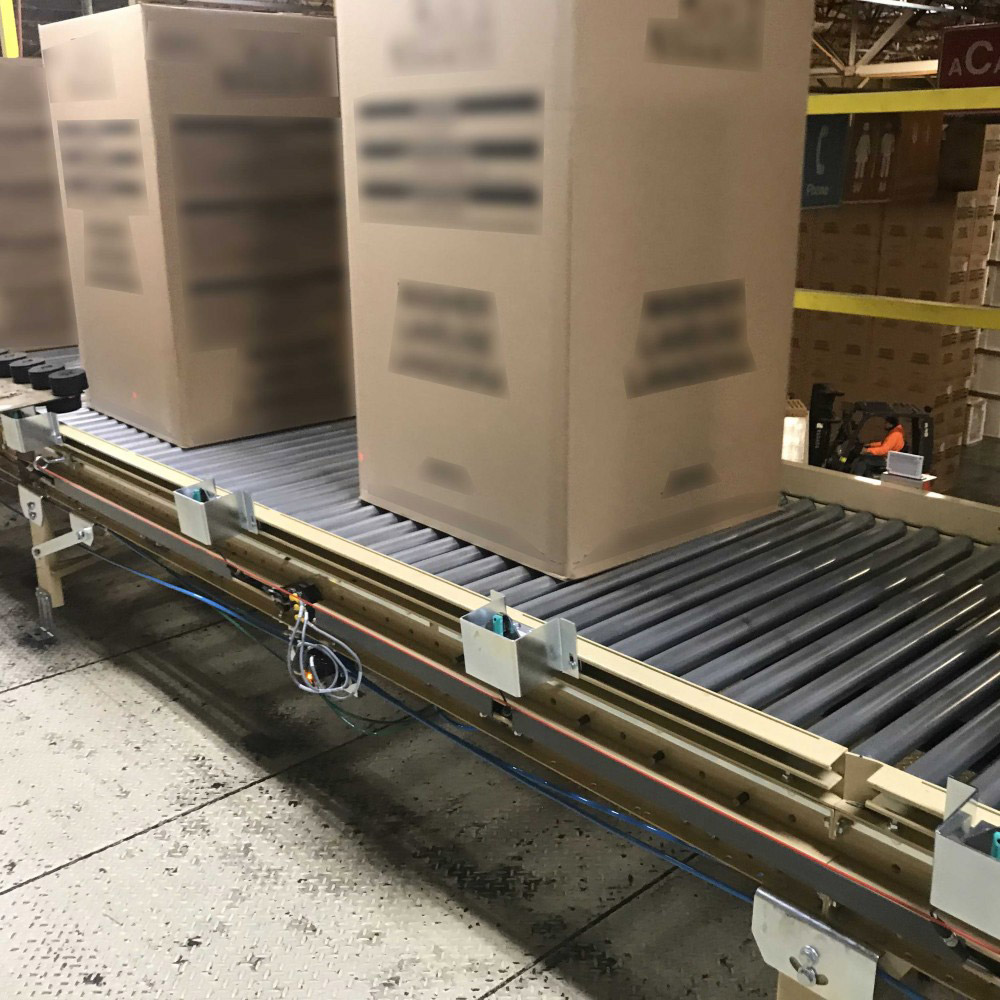 boxes on a conveyor belt